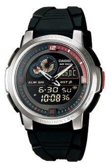 Casio Standard นาฬิกาข้อมือผู้ชาย สายเรซิน รุ่น AQF-102W-1BVDF - สีดำ