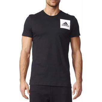 Adidas เสื้อยืด คอกลม T-Shirt Three Stripes B45750 BK (850)