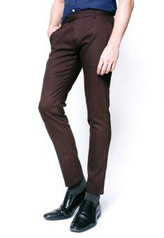 B&B กางเกงขายาว Chino Pant (DARK BROWN)