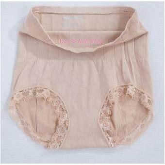 MUNAFIE JAPAN กางเกงในกระชับสัดส่วน กางเกงในเก็บพุง สีเนื้อ
