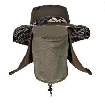 Harga Man Sunhat Large brimmed hat Fashion Fishing hat Outdoor (army green) - Intl