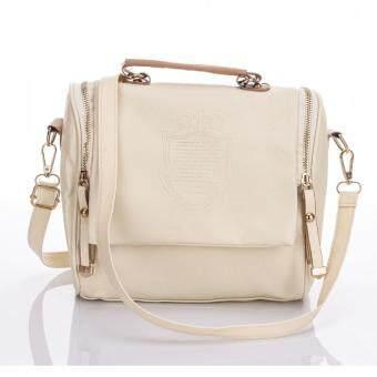 Premium Bag กระเป๋าแฟชั่น กระเป๋าสะพายข้าง รุ่น PB-006 (สีขาว)