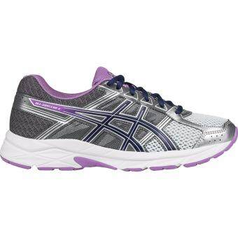Harga Asics Running Women's รองเท้าวิ่ง ผู้หญิง GEL-Contend 4 (T765N-9333) Silver/Campanula/Carbon