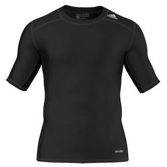 ADIDAS เสื้อ คอกลม วิ่ง เทรนนิ่ง T-Shirt Techfit Base AJ4966 BK (890)