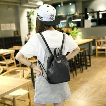 Little Bag กระเป๋าเป้สะพายหลัง กระเป๋าเป้เกาหลี กระเป๋าสะพายหลังผู้หญิง backpack women รุ่น LP-094 (สีดำ)