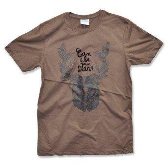 PIMNIYOM T-SHIRT เสื้อยืด คอกลม รุ่น P511 (BROWN)
