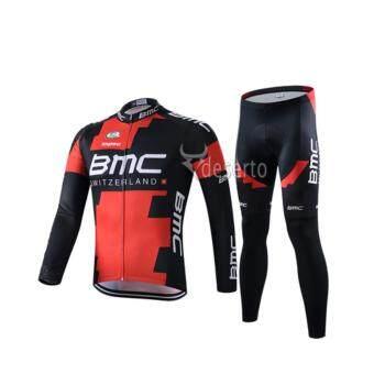 Cbike ชุดปั่นจักรยาน BMC แขนยาวขายาว ชุดโปรทีมจักรยาน ชุดขี่จักรยาน