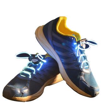 ELENXS Led เรืองแสงในที่มืดแสงเส้นใยนำแสงเอาเชือกผูกเชือกรองเท้ากันน้ำคลั่งขึ้นมาเล่นงาน