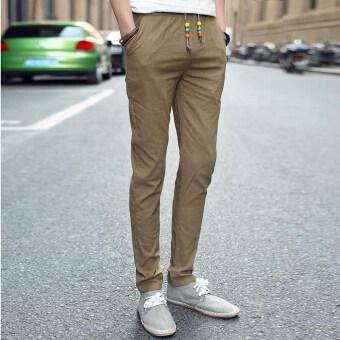 กางเกงแฟชั่นบุรุษจ็อกกิงกลางแจ้งผ้ากางเกงลำลองมากขนาดกางเกงกางเกงเกาหลีคานกองทัพสีเขียว-ระหว่างประเทศ