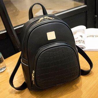Little Bag กระเป๋าเป้สะพายหลัง กระเป๋าเป้เกาหลี กระเป๋าสะพายหลังผู้หญิง backpack women รุ่น LP-084 (สีดำ)