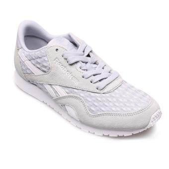 REEBOK WOMEN รองเท้าผ้าใบ ผู้หญิง รุ่น CL NYLON SLIM ARCHITECT 0317 - 32-BD1588 (CLOUD GREY/WHITE)