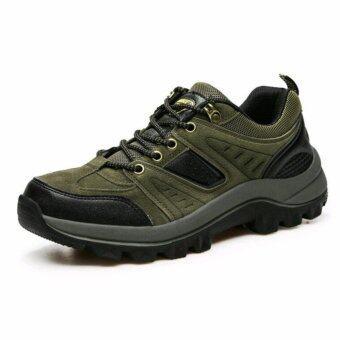 Korea size42รองเท้าผ้าใบ รองเท้าปีนเขา ร้องเทาใส่เที่ยว รุ่น BS003 (ข้อสั้นสีเขียว)