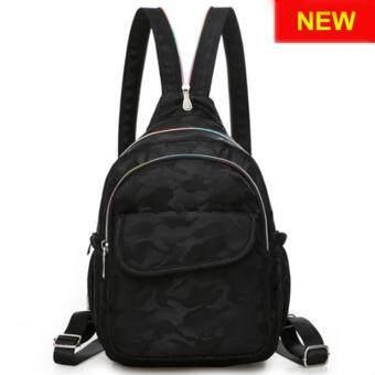 RICHCOCO กระเป๋าเป้สะพายหลัง Nylon leisure Backpack (K01_4 Black)