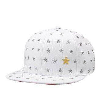 หมวกดาราทอขาว