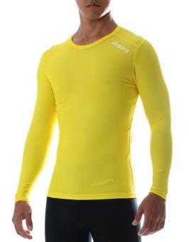 FITSUITS เสื้อแขนยาว กระชับกล้ามเนื้อ รัดกล้ามเนื้อ SPORTS COMPRESSION ชุดกีฬา ออกกำลังกาย ว่ายน้ำ วิ่ง ฟิตเนส ฟุตบอล รุ่น ORIGINAL FS-S001 สีเหลือง YELLOW
