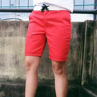 Play Hard กางเกงขาสั้น ลำลอง สีแดง