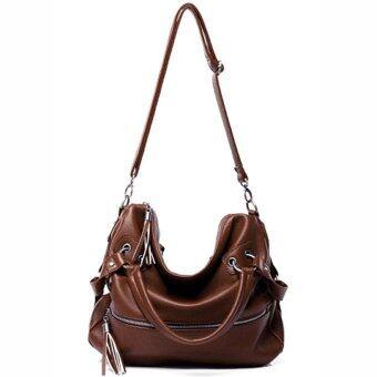 Axixi กระเป๋าแฟชั่น รุ่น AXD08 (Dark Brown)