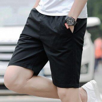 Harga The Five Summer Sports Pants Men's Casual Pants Shorts Lovers Summer Beach Pants (Black) - intl