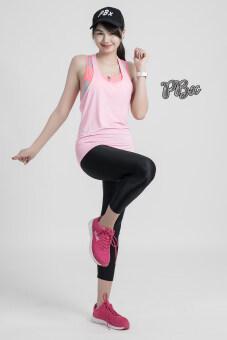 PBx - เซ็ต 3 ชิ้น สปอร์ตบราซิปหน้า / เสื้อกล้าม / กางเกงออกกำลังกาย