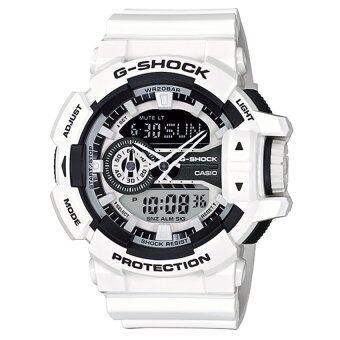 Casio G-Shock นาฬิกาข้อมือผู้ชาย สีขาว สายเรซิ่น รุ่น GA-400-7ADR