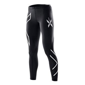 ชายกางเกงขายาวอัดแน่นสีดำกางเกงวิ่งออกกำลังกายเหนื่อย