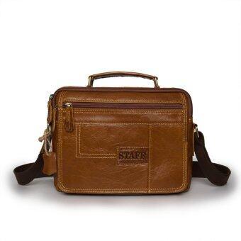 SAPA กระเป๋าหนังแท้ กระเป๋าสะพายข้างใส่I-PAD กระเป๋าใส่เอกสาร กระเป๋าถือหนังแท้ SPA05