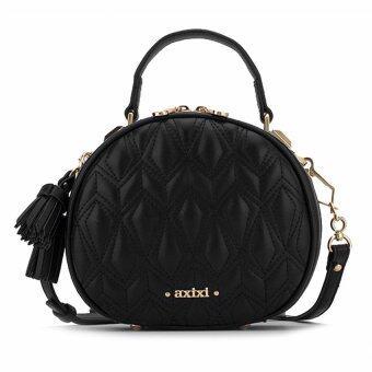 AXIXI กระเป๋าสะพายข้าง Glam Geometry Round Bag Black