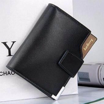MATTEO กระเป๋าเงิน กระเป๋าสตางค์ ผู้ชาย 3 ชั้น Baellerry 0978 สีดำ