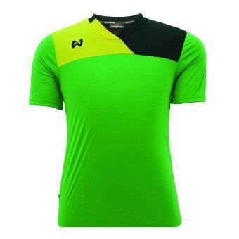 WARRIX SPORT เสื้อฟุตบอลพิมพ์ลาย WA-1505 สีเขียว