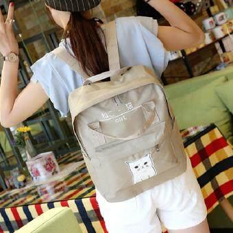 FTshop กระเป๋าเป้สะพายหลัง+กระเป๋าสะพายหลัง+กระเป๋าแฟชั่น+กระเป๋าเดินทาง+กระเป๋าใบใหญ่-รุ่น 111cสีน้ำตาล