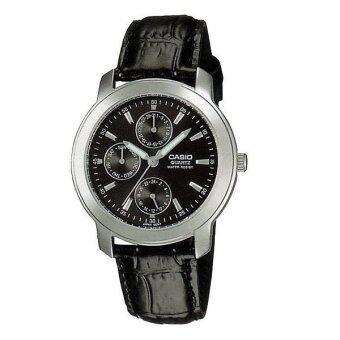 Casio Standard นาฬิกาข้อมือข้อมือ Multi-Hand Leather Band - รุ่น MTP-1192E-1ADF