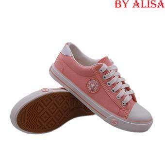 Alisa Shoes รองเท้าผ้าใบแฟชั่น รุ่น AL 9108 Orange