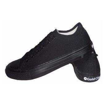 Gold city รองเท้าผ้าใบ GC1207 สีดำดำ