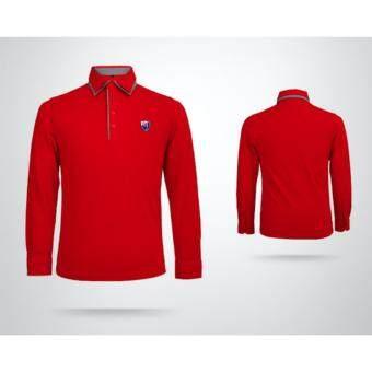 EXCEED เสื้อกอล์ฟผู้ชายแขนยาว สีแดง YF028 MEN'S GOLF STRETCH T-SHIRT PGM ( RED )