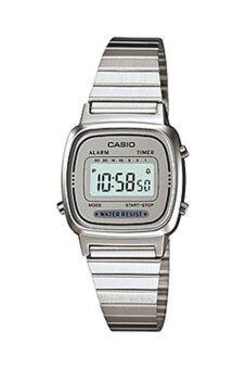 Casio นาฬิกาผู้หญิง สายสแตนเลส รุ่น LA670WA-7DF - สีเงิน