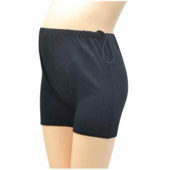 IAMMOM กางเกงซับใน กางเกงซับในคนท้อง แบบปรับเอว สีดำ