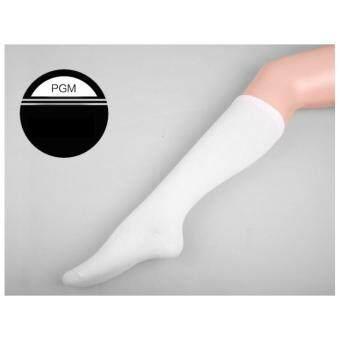 PGM Exceed ถุงเท้ายาวครึ่งแข้ง (WZ002) สีขาวล้วน