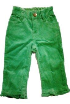Place กางเกงขายาวผ้าลูกฟูกเนื้อนิ่ม - สีเขียว