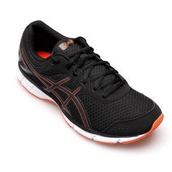 ASICS MEN รองเท้าผ้าใบ ผู้ชาย รุ่น GEL GALAXY 9 - T6G0N9009 (BLACK/FLAME ORANGR)