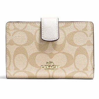 Harga กระเป๋าสตางค์ COACH F54023 MEDIUM CORNER ZIP WALLET IN SIGNATURE (IMDQC)