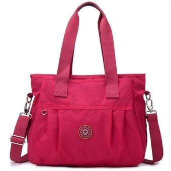 RICHCOCO กระเป๋าสะพาย เนื้อผ้าไนลอนกันน้ำ Waterproof Nylon Handbag (Pink)