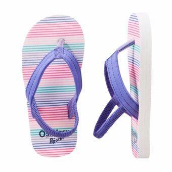 OSHKOSH รองเท้าแตะเด็ก ลาย Striped Blue
