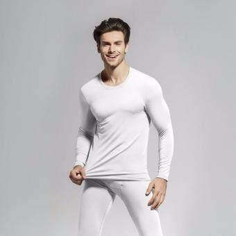 The Traverler : Heattech no ลองจอน กันหนาว ทั้งชุด เสื้อแขนยาว+กางเกงขายาว สีขาว For men