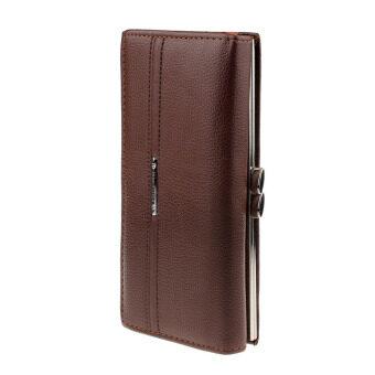 แฟชั่นกระเป๋าสตางค์กระเป๋าถือสตรีประดิษฐ์คลัตช์หนัง (สีน้ำตาล)
