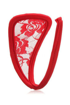 Harga Jetting Buy C-String Underwear Lace (Red)