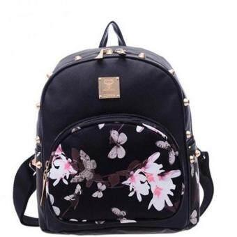 Premium Bag กระเป๋าเป้สะพายหลัง กระเป๋าเป้เกาหลี รุ่น PB012(สีดำ)