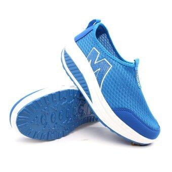 Harga Alisa Shoes รองเท้าผ้าใบแฟชั่นComfort รุ่น A425 Blue