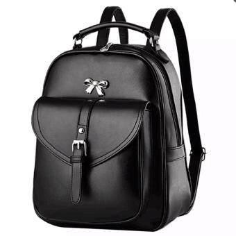 meet Little Bag กระเป๋าเป้สะพายหลัง กระเป๋าเป้เกาหลี กระเป๋าสะพายหลังผู้หญิง backpack women (สีดำ)