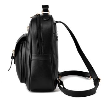 Maylin กระเป๋าเป้สะพายหลัง กระเป๋าเป้เกาหลี กระเป๋าเป้หนัง ผู้หญิง รุ่น MP-064 (สีดำ) (image 2)
