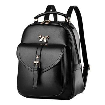 Maylin กระเป๋าเป้สะพายหลัง กระเป๋าเป้เกาหลี กระเป๋าเป้หนัง ผู้หญิง รุ่น MP-064 (สีดำ) (image 0)